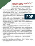 Urgente Medicale - Lista Inrebarilor Pentru Examen Proba Orala (anul VI)