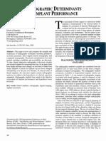 Radiographic Determinants of Implant