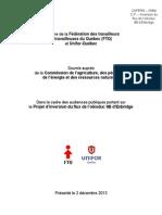 Mémoire Ligne 9B FTQ et Unifor Québec