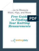 Knitting Measuring Guide