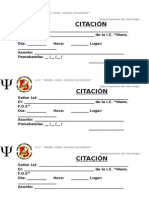 CITACIÓN DEPARTAMENTO DE PSICOLOGIA