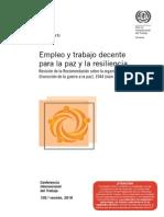 Empleo y Trabajo Decente Para La Paz y La Resiliencia