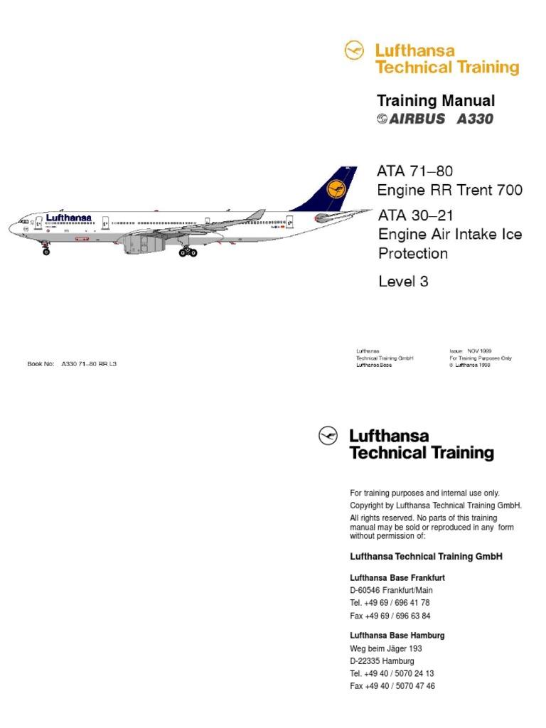 a330 ata 71 80 rr trent 700 l3 e pdf mechanical fan propulsion rh pt scribd com lufthansa technical training manual a320 AABB Technical Manual