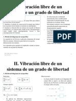 Clase 2 Vibracion Libre de Un Sistema de Un Grado de Libertad
