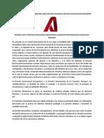 Derecho Internacional Humanitario y Derecho Internacional de Los Dh