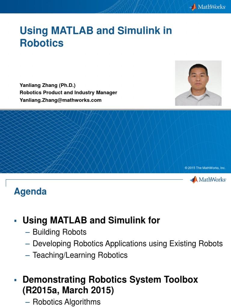 Using Matlab and Simulink for Robotics | Matlab | Robotics