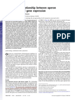Fundamental Relationship Between Operon Organization and Gene Expression