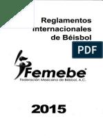 Reglamento FEMEBE 2015