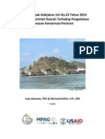 Kajian Dampak Kebijakan Uu-23-2014