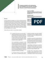Processo produtivo de elementos pré-moldados de concreto armado
