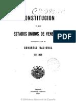 Constitucion de Los Estados Unidos de Venezuela