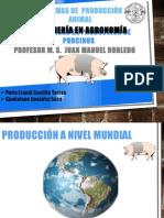 Estadísticas de Producción de Porcinos