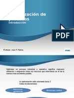 Intro Optimización