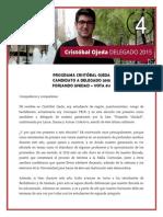Programa Cristóbal Ojeda - Candidato Delegado gen 2015 #4