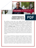 Programa Erwin Moller - Candidato Delegado gen 2012 #5