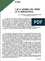 IMPLICACIONES DE LA REFORMA DEL CÓDIGO CIVIL EN EL DERECHO PENAL En Bolivia