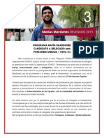 Programa Matías Mardones - Candidato Delegado gen 2015 #3
