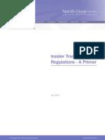 Insider Trading Regulations - A Primer