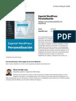 Especial Wordpress Personalizacion