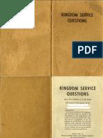 1961 - Kingdom Service Questions