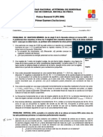 FÍsica General lt (FS 2OO) Primer Examen (Oscilaciones)