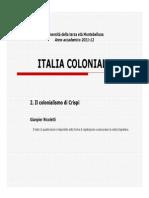 Il Colonialismo Di Crispi, Gianpier Nicoletti