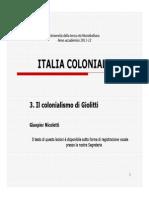 Il Colonialismo Di Giolitti, Gianpier Nicoletti