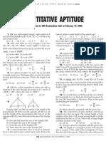 Quantitative Aptitude Practice Paper