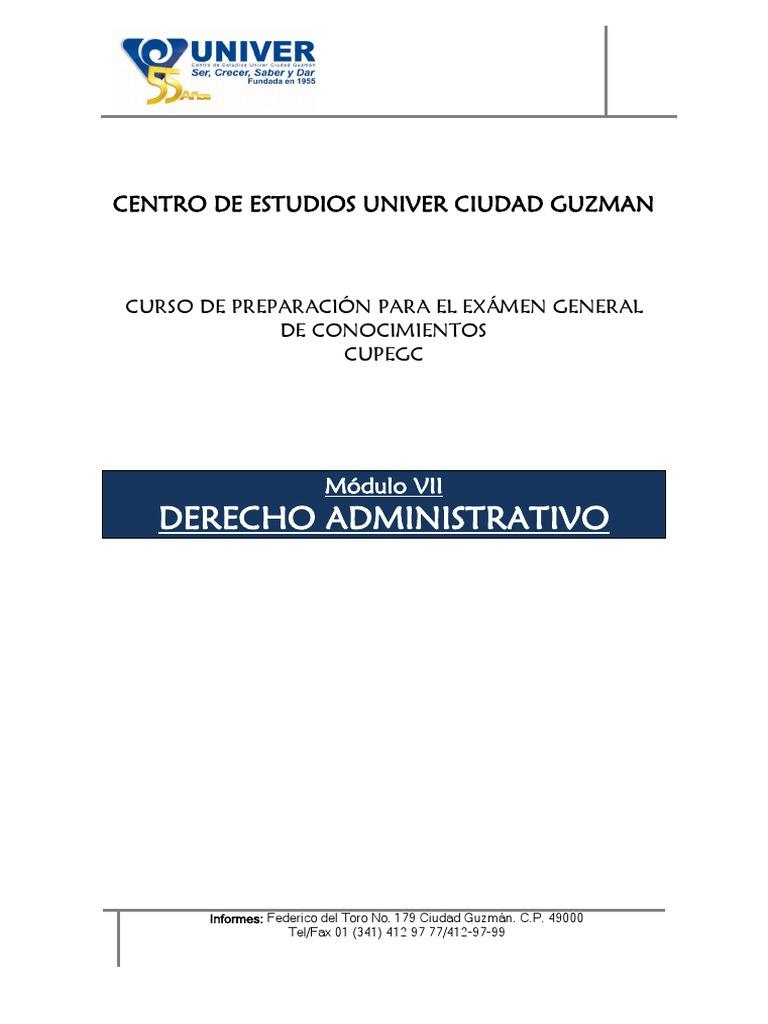 Cupeg Modulo Vi Derecho Administrativo