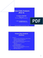 M&S 05 Output Data Analysis