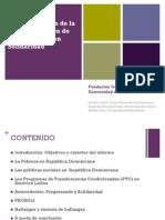Sistematización de la implementación de Progresando con Solidaridad