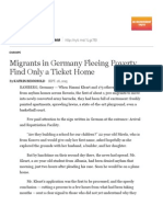 Migrants in Germany Fleeing Poverty Find Only a Ticket Home
