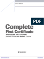 Complete First Certificate Upper Intermediate Workbook With Answers Frontmatter