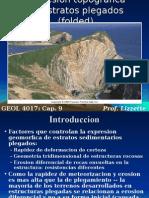 Expresion topografica de estratos plegados (folded)