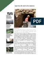 Conozca 10 Aspectos de Nueva Ley Minera