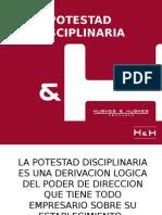 Potestad Disciplinaria. 2015