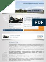 PDF Maestría en Gestión de Operaciones 2016