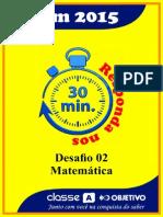Desafio 02 - Matemática - Questões