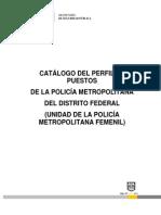Catálogo Del Perfil de Puestos Policía Metropolitana