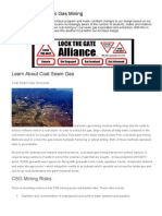 coal and coal seam gas mining