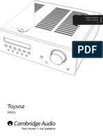 Cambridge Audio Stereo Receiver Type Topaz SR20_Users Manual