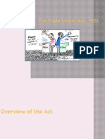 Trade Union Act Slide Show
