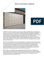 Garage Doors Fix - How To Track Down A Superior Contractor