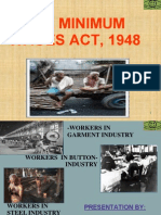 Minimum Wages Act, 1948