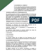 Clasificacion de Las Barreras Al Comercio