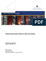History of Cultural Policy in Canada