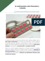 Tráfico ilegal de medicamentos entre Venezuela y Colombia