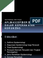 Aplikasi Epidemiologi Dalam Keperawatan Komunitas