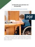 Derecho a la Educación para personas con discapacidad