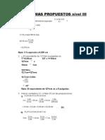 Problemas Propuestos Nivel III-matematica